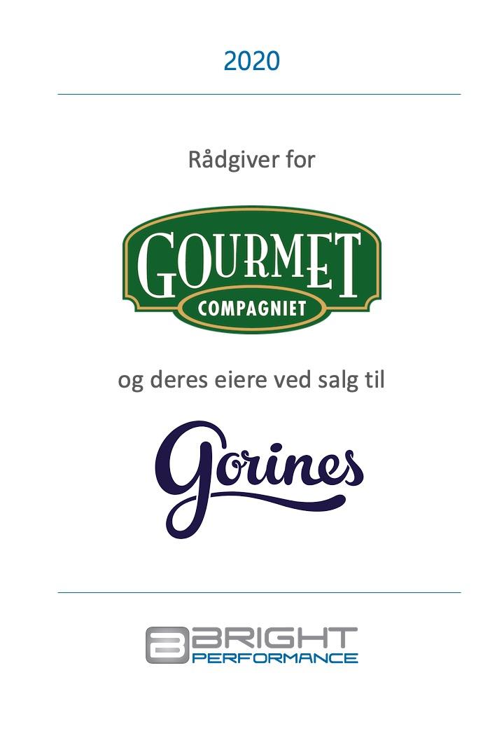 2020 - Rådgiver for Gourmet Compagniet og deres eiere ved salg til Gouines